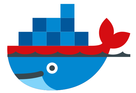 Docker logo with modified colors
