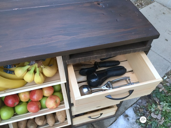 kitchen island drawer storage
