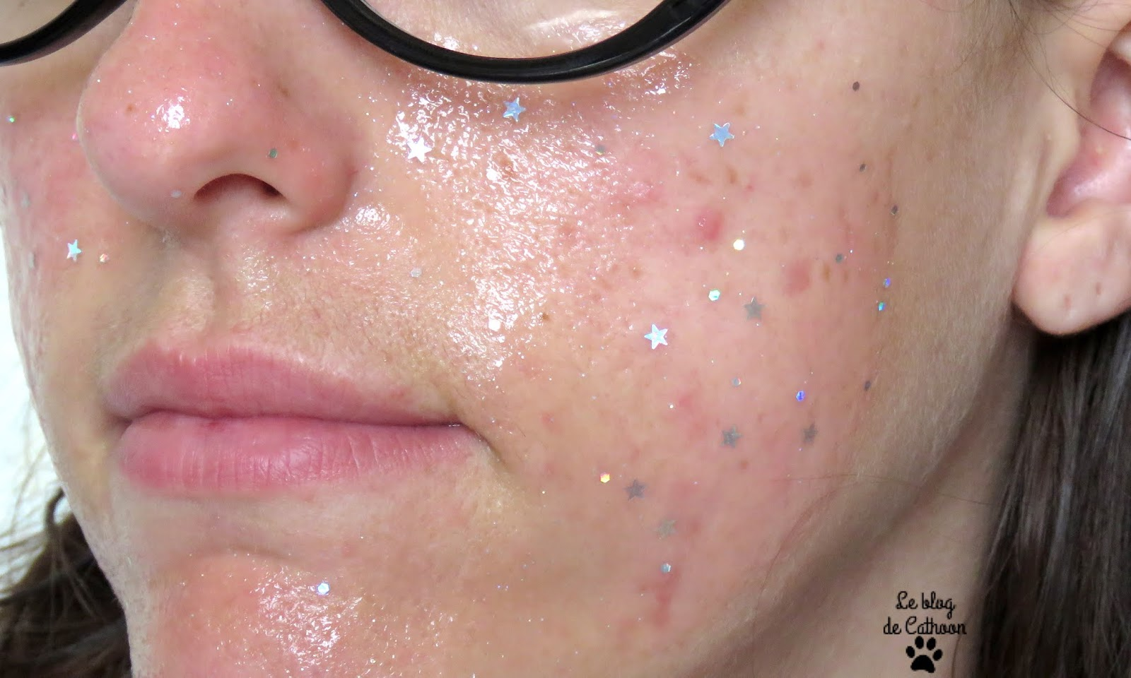 Peel-off Glitter Mask - Action