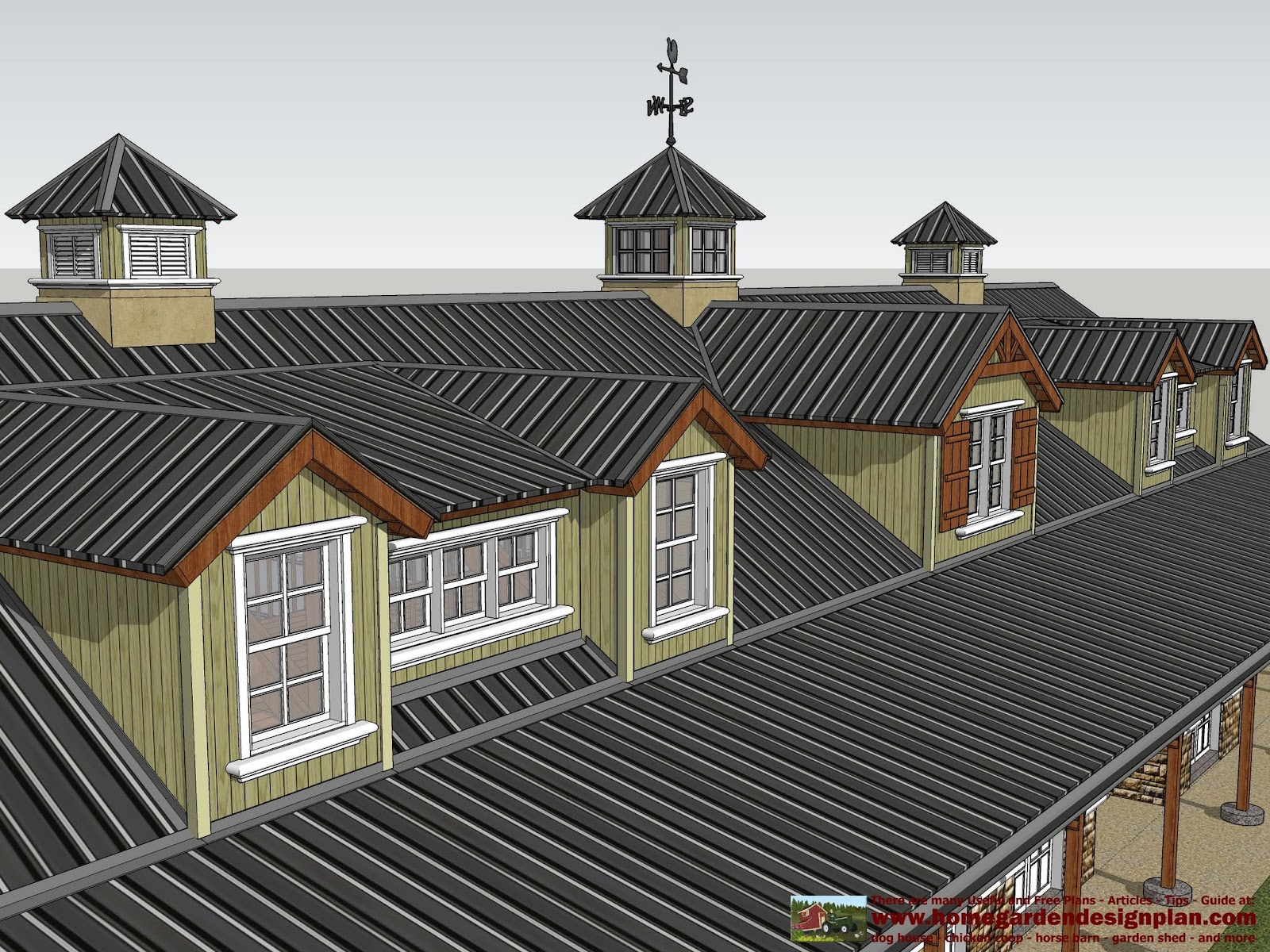 Hb100 Horse Barn Plans Horse Barn Design Shed Plans Ideas