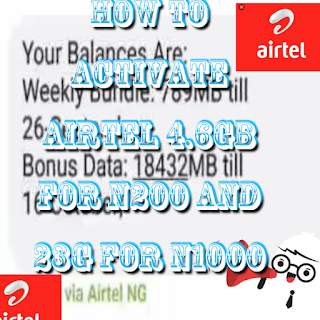 activation of 4.6GB for N200 only and 23GB for N1000 respectively on airtel sim