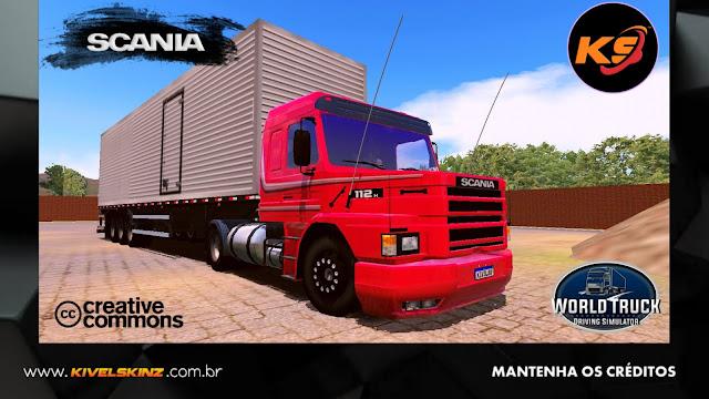 SCANIA T113 - VERMELHO COM CINZA