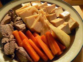 飽きない酒の肴 おつまみ カツオの刺身残りと野菜の煮物