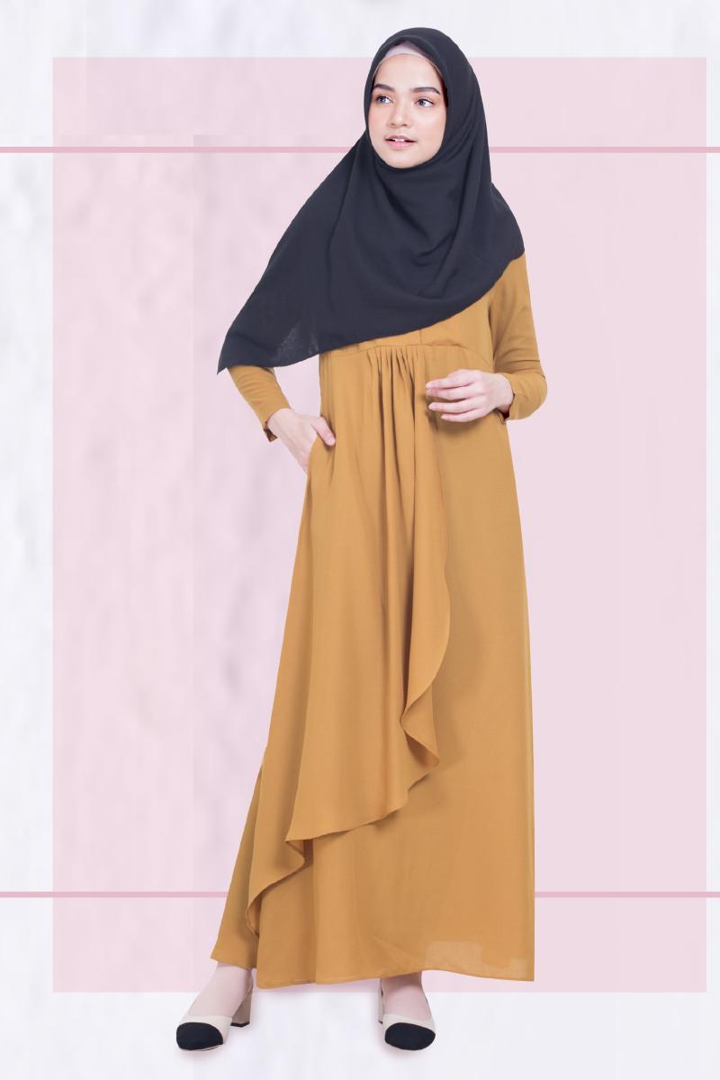 Gamis trend baju lebaran terbaru cewek hijab manis dan seksi