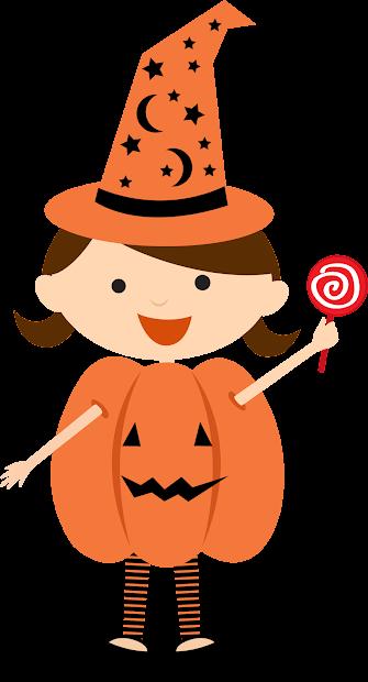 Children Dressed Halloween Clipart. Fiesta In