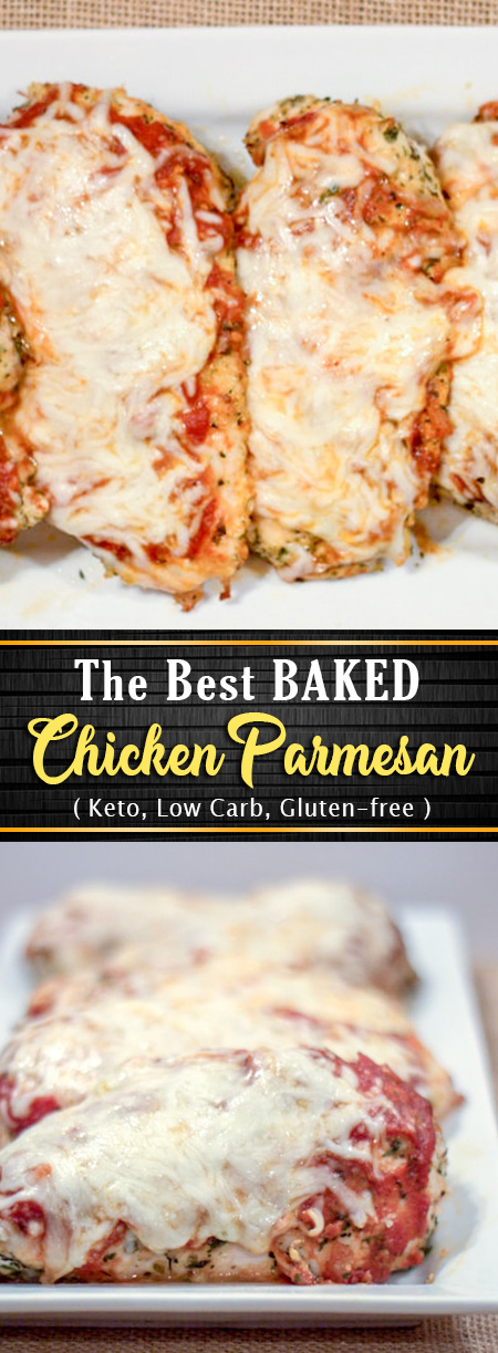 Keto Baked Chicken Parmesan (Low Carb Gluten-free)