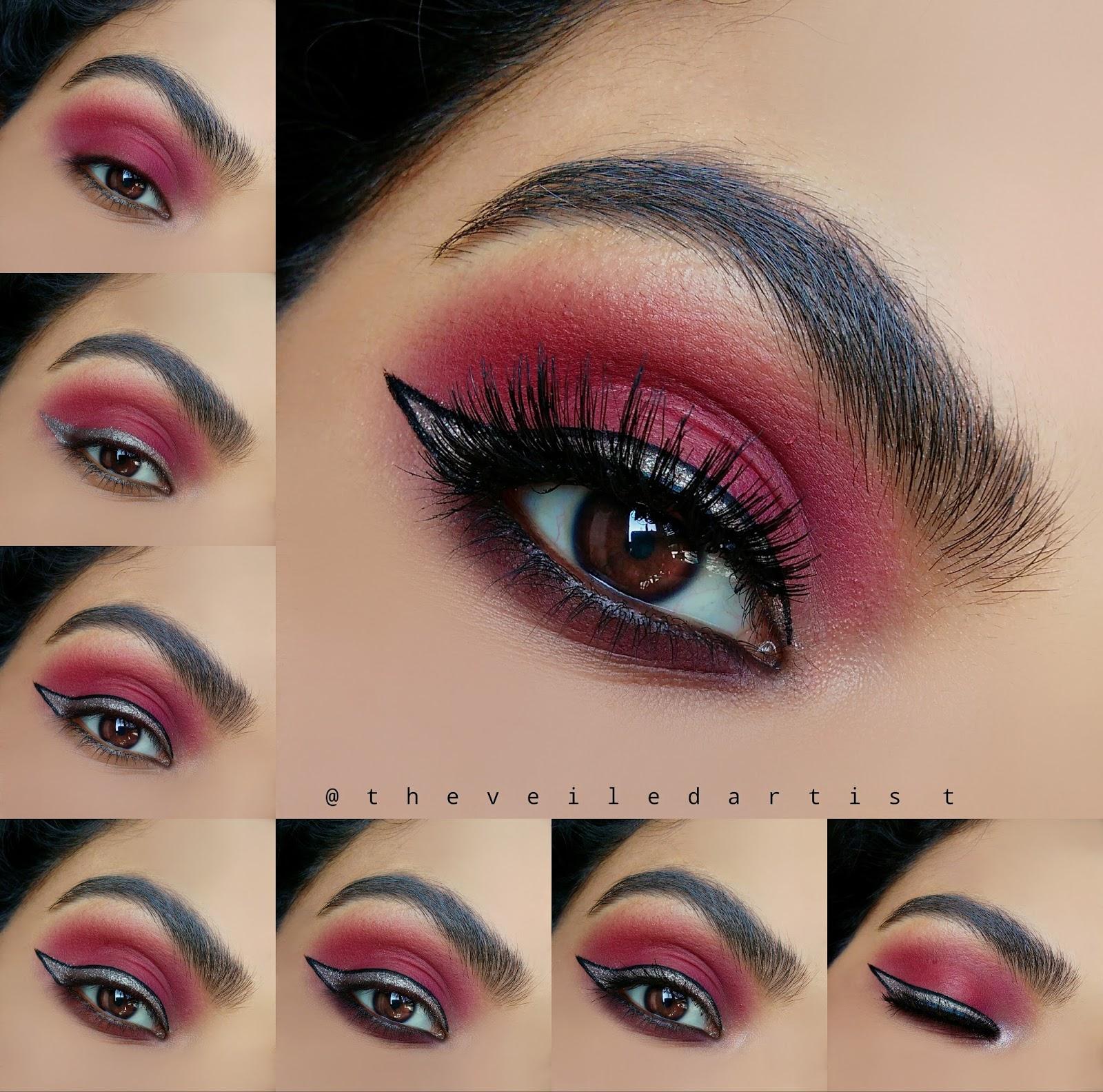 Simple 7 Step Statement Eyeshadow Look With Sparkly Liner Tutorial