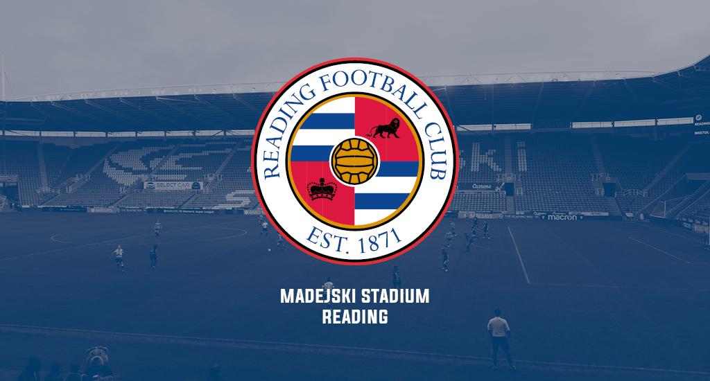 Madejski Stadium and Reading FC logo
