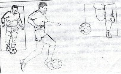 Teknik Menggiring bola dengan punggung kaki