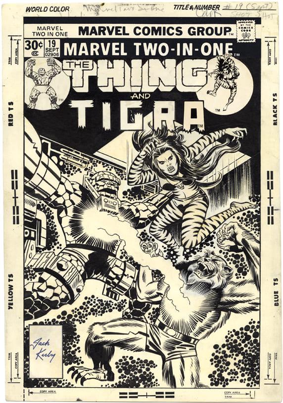 Marvel Two-In-One #19, portada de Jack Kirby y Frank Giacoia