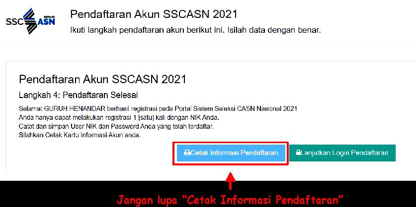 catak akun pendaftaran di sscasn