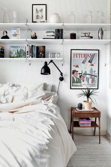 bedroom wall shelf ideas