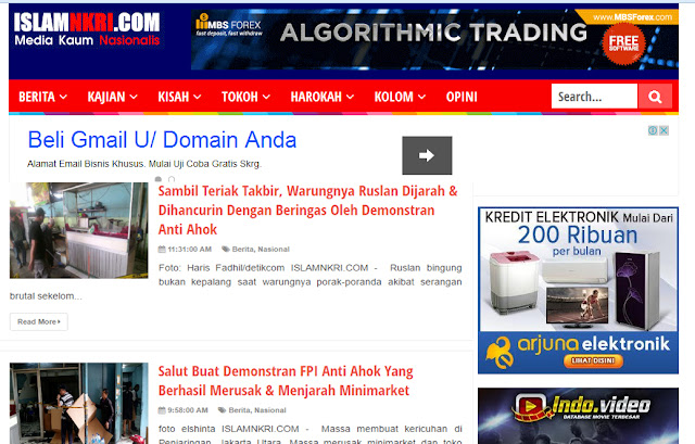 Website Pendukung Ahok, IslamNKRI.com Akhirnya diblokir Kominfo
