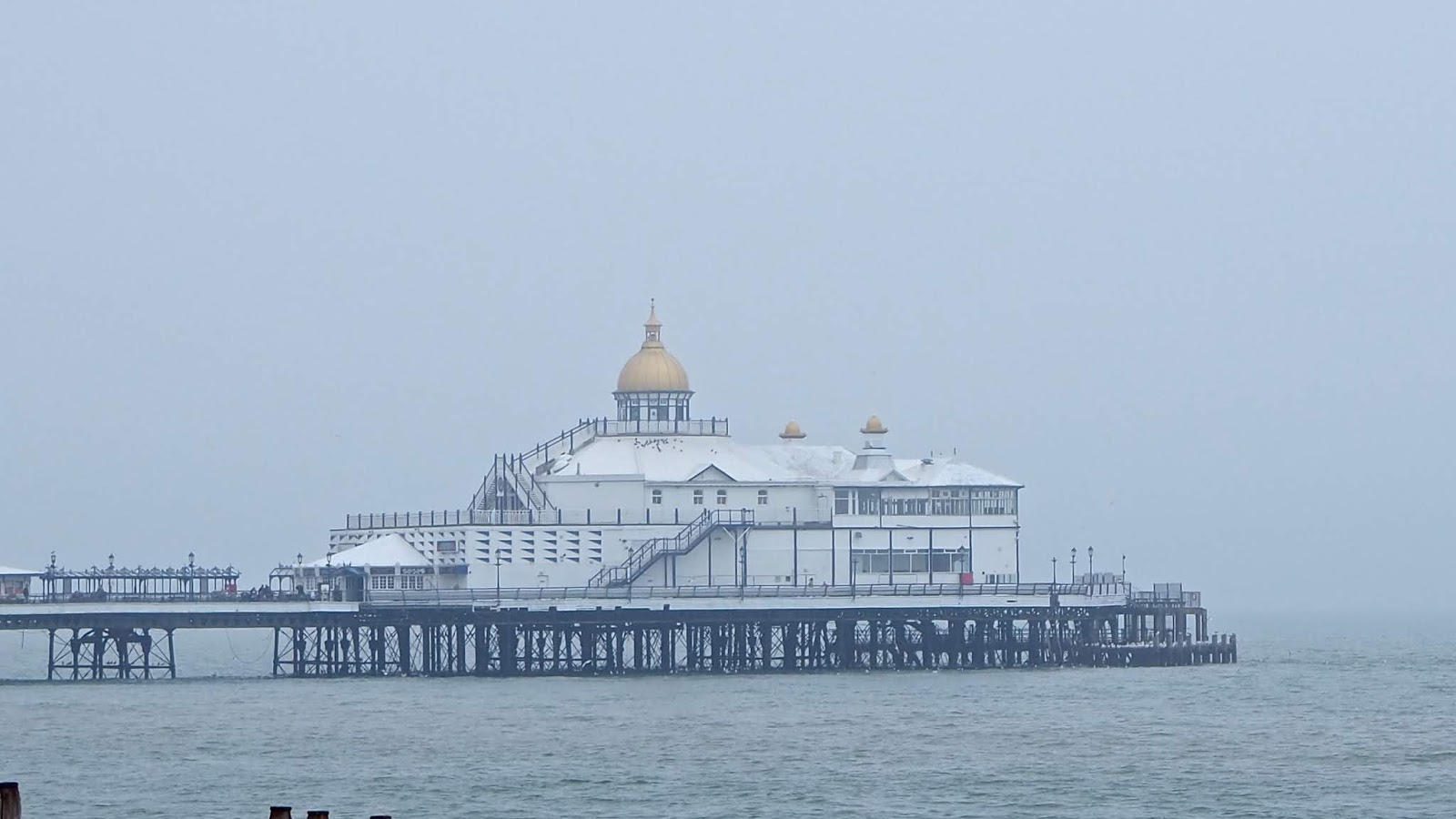 Eastbourne Pleasure Pier in the fog