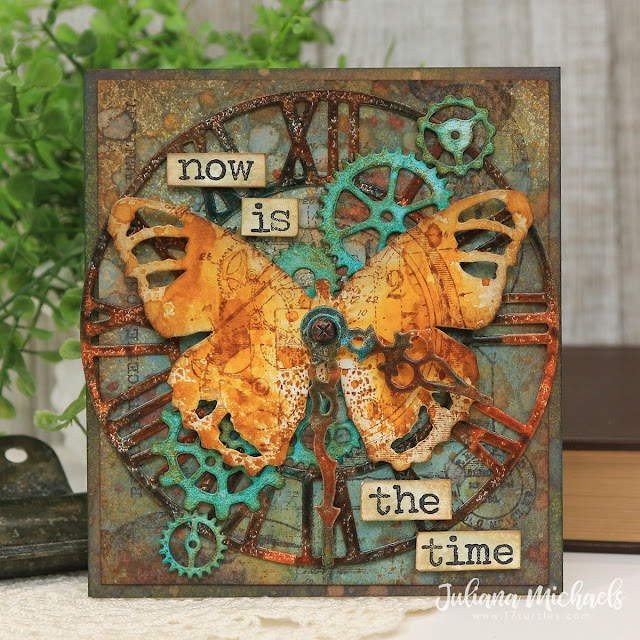 Now Is The Time Mixed Media Card by Juliana Michaels
