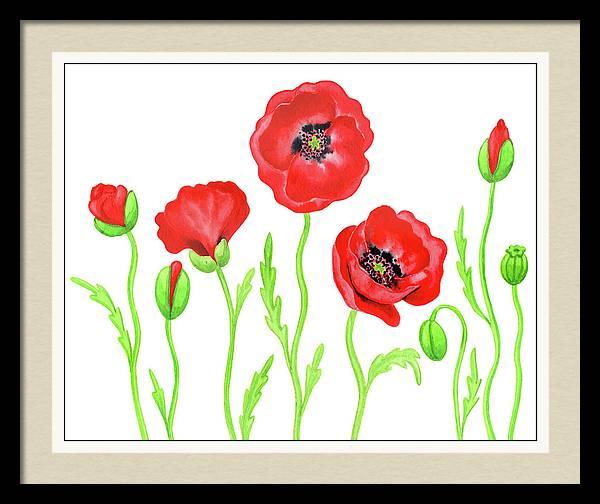 Watercolor Red Poppies Painting by the artist Irina Sztukowski