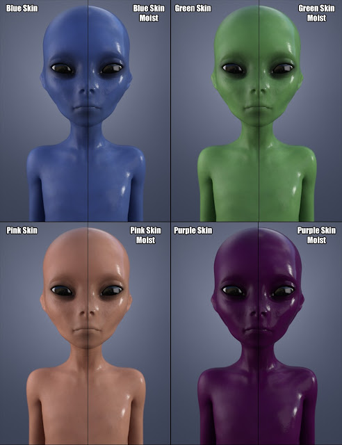 Grey Alien for Genesis 3 Female