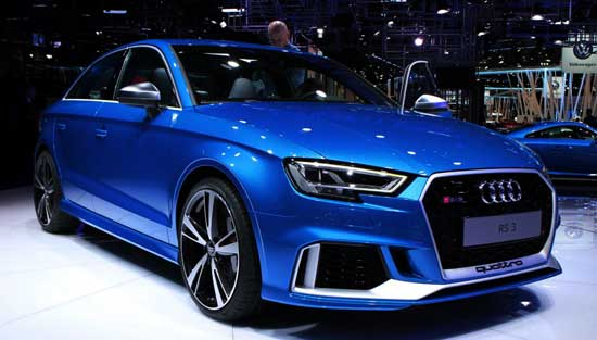 2018 Audi RS 3 debuts at the Paris Auto Show with 400bhp horsepower