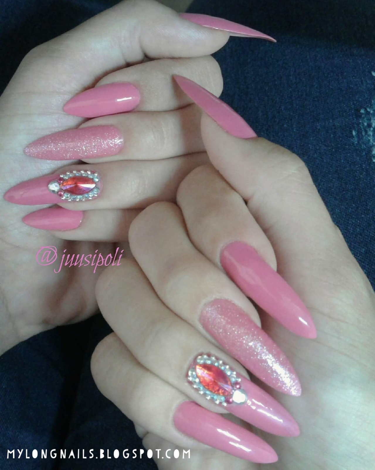 Long Nails: Julia\'s beautiful natural long nails - 2