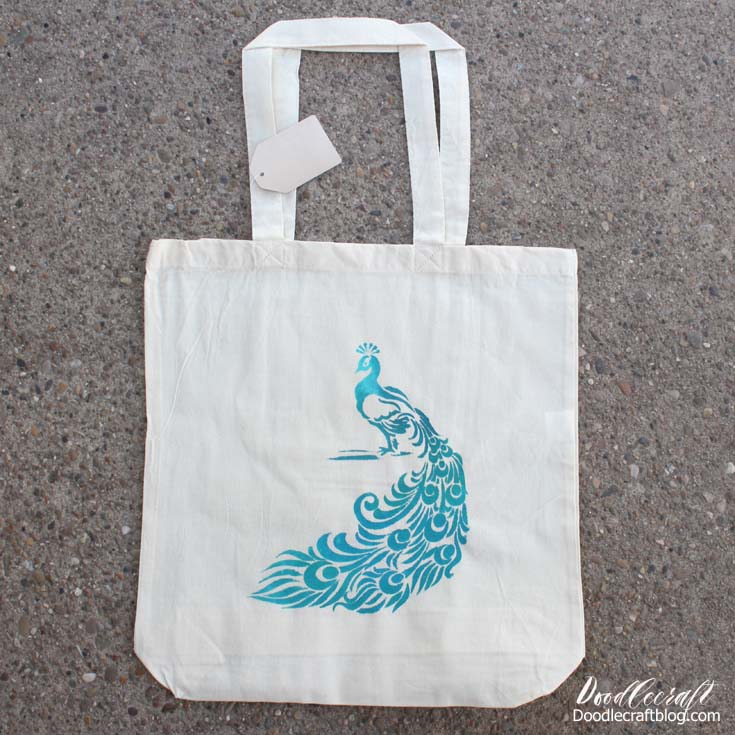 Stunning and proud, this peacock tote is ready to fill with fun!
