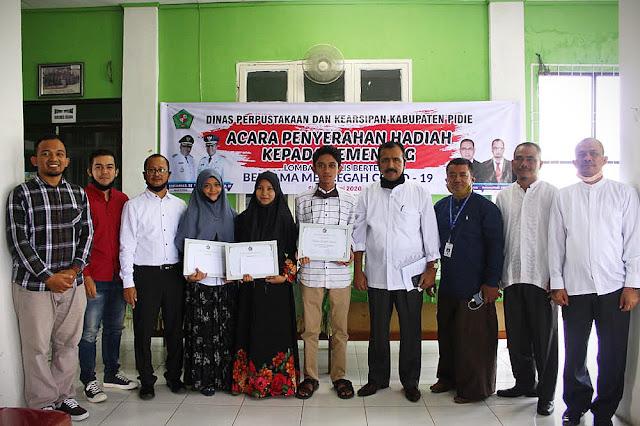 Siswa SMA Sukma Bangsa Pidie Dominasi Juara Menulis Dinas Perpustakaan dan Arsip Pidie
