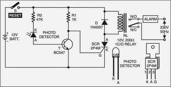 laser detector circuit diagram