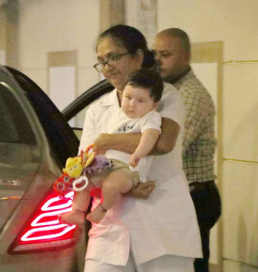 Kareena Kapoor Son Taimur Ali Khan at Babita Residence