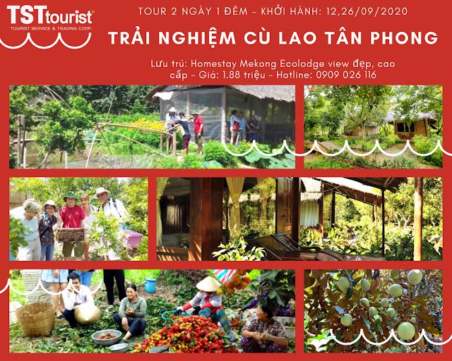 Khám phá cù lao Tân Phong - Mekong Ecolodge (2 ngày)