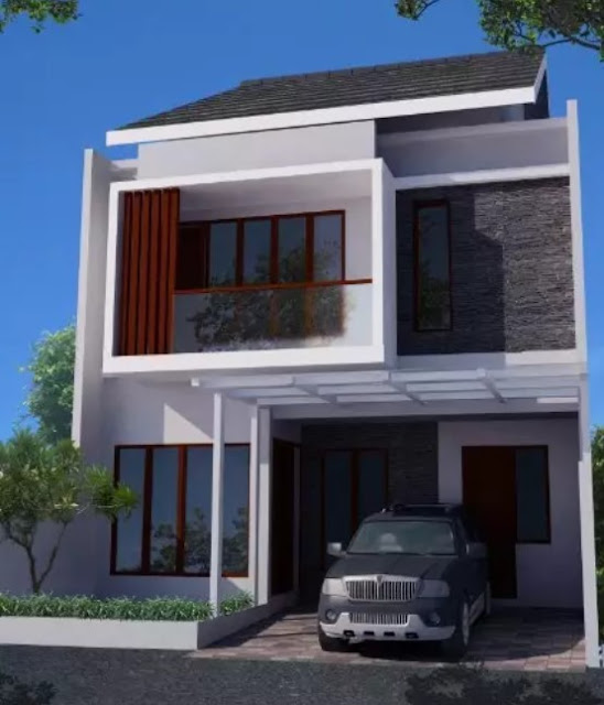 simple 2nd floor house front design pictures
