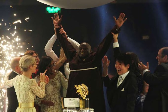 Kenyan who gave earnings to poor wins $1M teacher prize