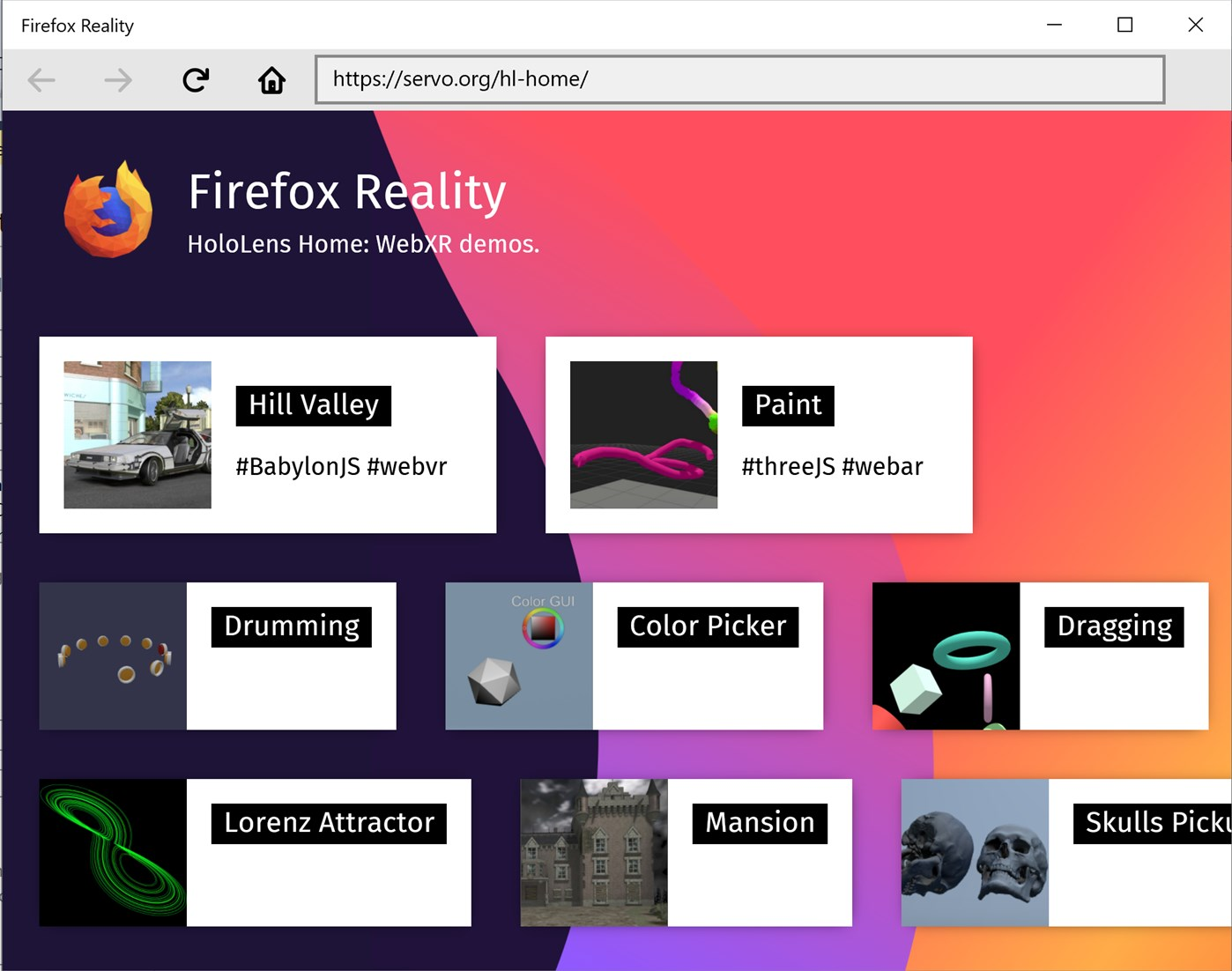 Firefox Reality, browser per Realtà Virtuale | Download