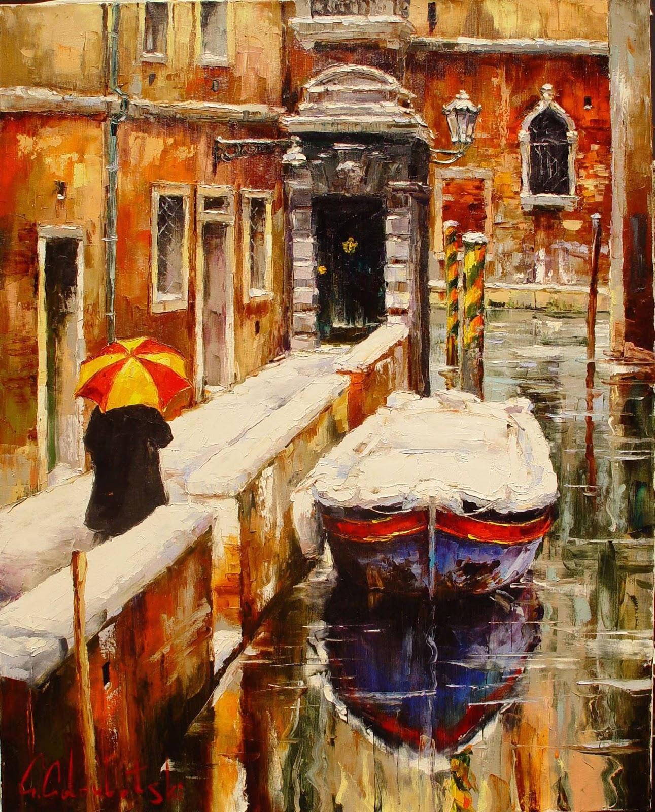 Gleb Goloubetski Winter Venice