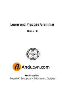 Odia 10th Class English Grammar Textbook Pdf File For Free