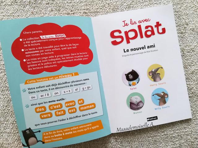 Je lis avec Splat, Le nouvel ami