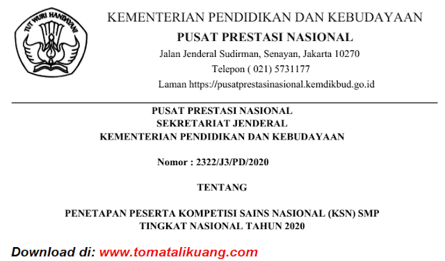 sk peserta ksn smp tingkat nasional tahun 2020 pdf tomatalikuang.com