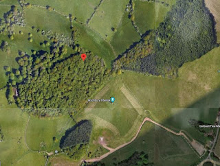 Google Earth - Wychbury Hill - no town there...