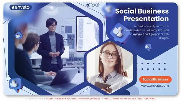 Social Business Presentation[Videohive][After Effects][28965918]