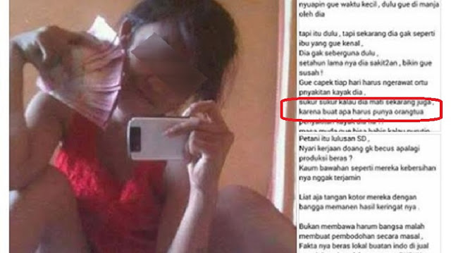 Astaghfirullah ! Postingan Gadis Ini Viral Karena Hina Kaum Petani, Makian Pada Ibu Kandungnya Buat Warganet Naik Darah !!Anak Durhaka !
