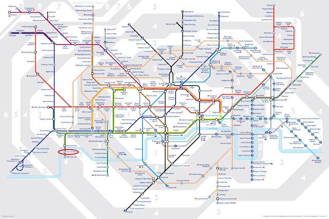 KEW Gardens 邱園 . 倫敦地鐵 Tube map