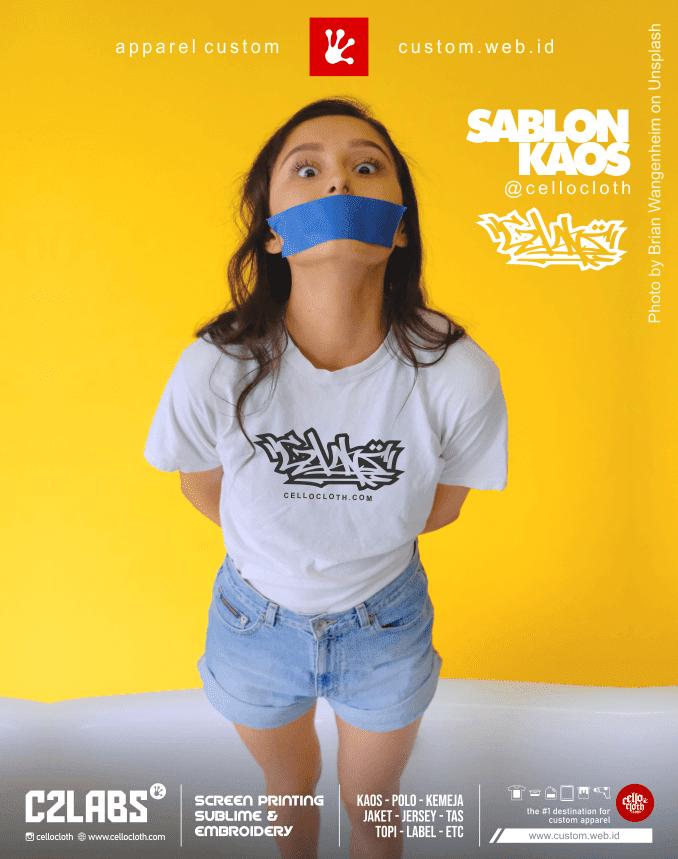 Sablon Kaos Keren Satuan dan Lusinan Bahan Adem Combed 30s 24s - C2 Labs Indonesia