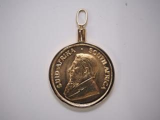クルーガーランド金貨ペンダントを買い取り致しました