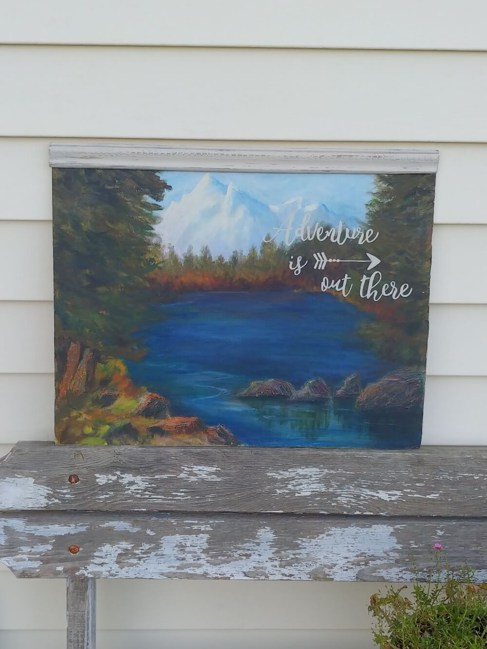 DIY Upcycled Thrift Store Painting - 7 Days of Thrift Shop Flips - Day Three