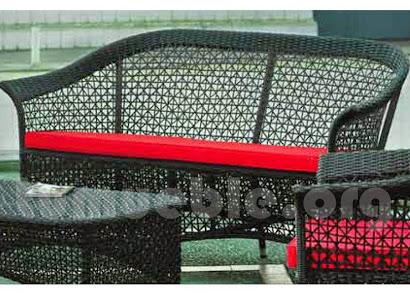sofa 3 plazas hecho en rattan sintetico 6080