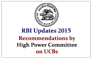RBI Updates- Important Recommendations made by High Power Committee on UCB