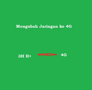 ubah jaringan ke 4g