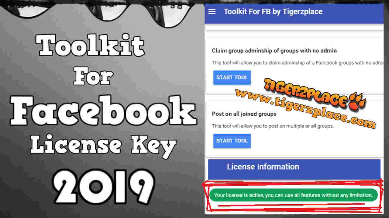 Latest] -- Toolkit for Facebook License Key 2019 - Tigerzplace
