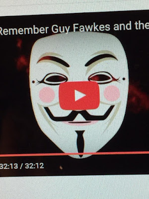 Uploading Remember, Remember to YouTube left the play button looking like a bright red nose on my title guy fawkes mask.