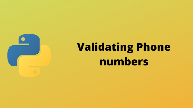 HackerRank Validating phone numbers solution in python