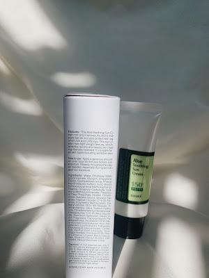 cosrx aloe soothing sun cream spf 50+ pa+++ ingredients