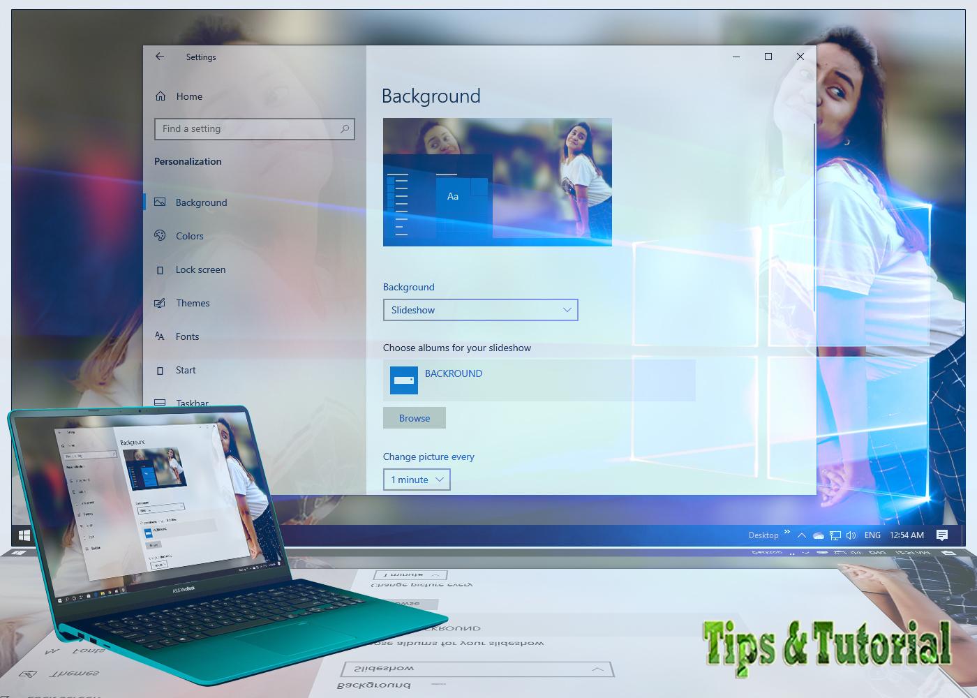 Tips Tutorial Cara Membuat Wallpaper Slideshow Dengan Shuffle Mode Di Windows 10